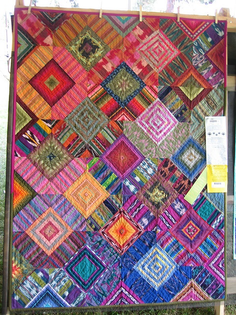 135 best Quilting with Striped Fabric images on Pinterest Quilting ideas, Patchwork quilting ...