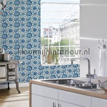 Azulejos tegels met relief behang 962471 Keuken AS Creation