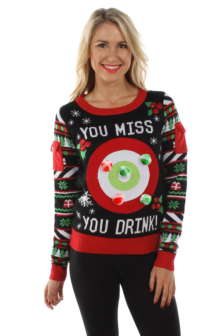 Women's Tipsy Elves Drinking Game Sweater | Tipsy Elves