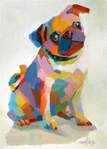 """""""Personable Pug"""" by Patti Mollica, very nice abstract of a favorite breed!"""