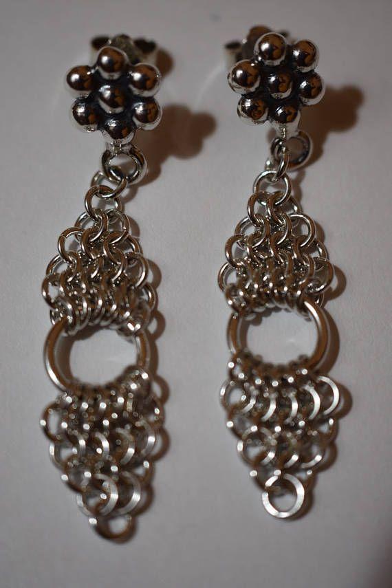 Sterling Silver Chandelier Earrings Silver Earrings