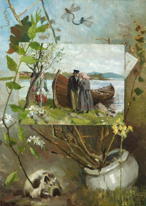 Akseli Gallen Kallela painting of In Spring