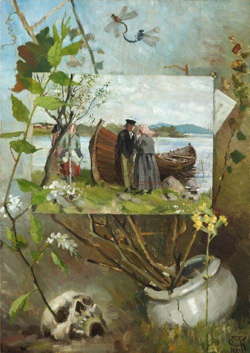 Akseli Gallen Kallela painting of In Spring