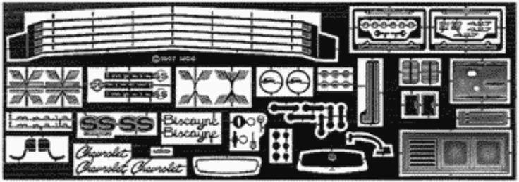 The Model Car Garage MCG-2116 '67 Chevrolet Impala Detail Set, AMT Kits #TheModelCarGarage