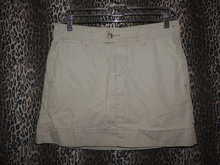 Gap Women's Khakis Favorite Chino Mini 4 PKT Biege Khaki Skirt Size 4 HOT & Sexy #GAP #FavoriteChinoMini