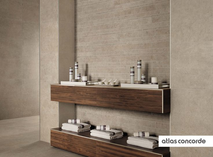 #SEASTONE greige | #Brick | #AtlasConcorde | #Tiles | #Ceramic | #PorcelainTiles