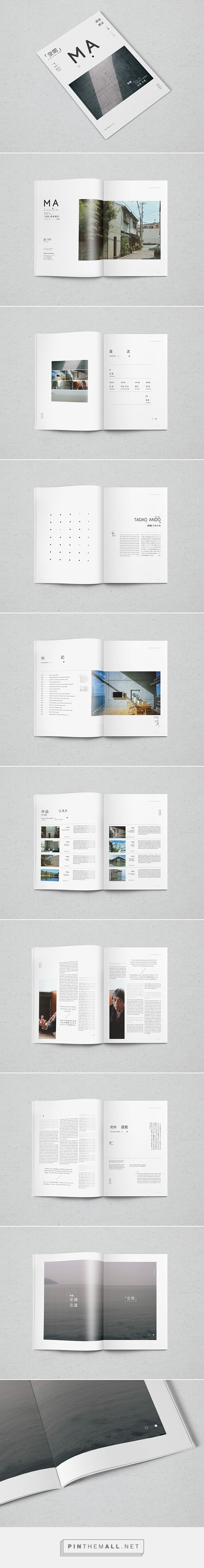 MA [空間] - Architectural Magazine on Behance - created via http://pinthemall.net