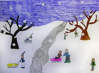 Stuck in the Mud Pottery: 2nd Grade  Grandma Moses lesson
