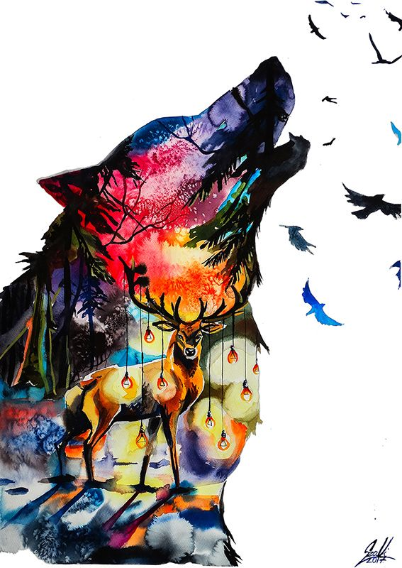 Watercolor Animal Paintings And Watercolor Art By Vivien Szaniszlo