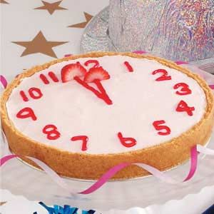 Countdown Cheesecake for New Year's Eve - Decoration idea - (pin leads no where)