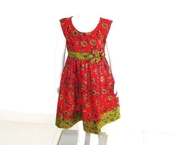 Girls Dress Pattern, Easy Summer Dress Tutorial, Christmas Dress ...