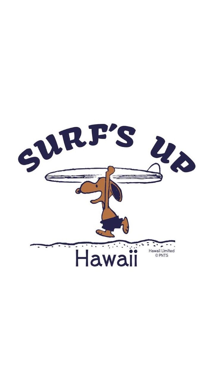 Surf S Up Snoopy Hawaii Iphone Wallpaper スヌーピー サーフィン