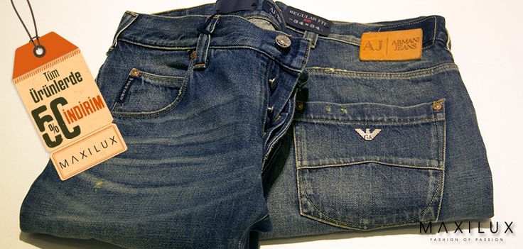Gardırobunun vazgeçilmezi jean'lerde indirim devam ediyor. Şimdi al, her zaman giy! #Maxilux #Marka #Moda #Jean #Fashion #Brand #AJ
