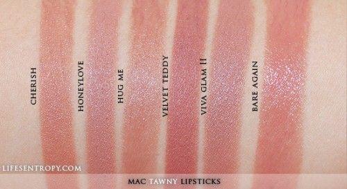 MAC Lipstick Collection Tawny Swatch