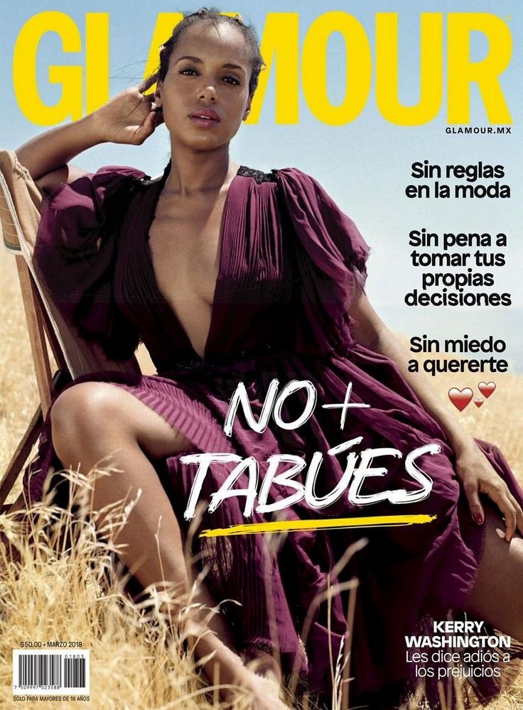 Kerry Washington for Glamour Mexico - March 2018