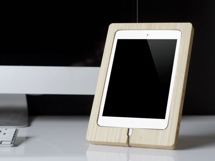 iPad Mini Dock handmade FROM RENEWABLE BAMBOO eco friendly #UnbrandedGeneric ONLY 65$ FOR A FEW DAYS