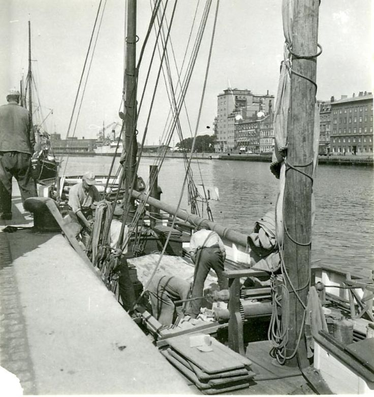 Malmö hamn 1946