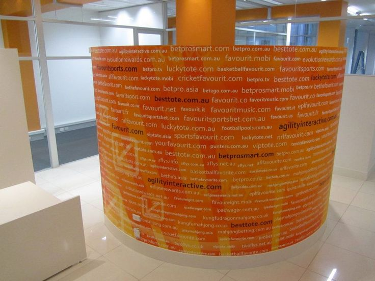 Wrap a cylinder shaped wall mural that is also advertising