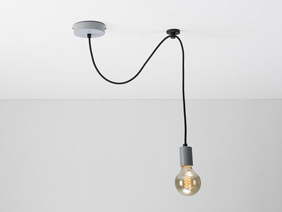 Colored Single Ceiling Pendant Swag Hook You Choose We Build Textile Cable Color Cord Retr Black Pendant Lamp Pendant Ceiling Lamp Ceiling Pendant