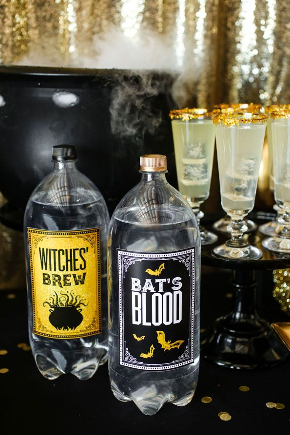 wicked potion party drinks dress up simple soda bottles with these free printable bottle labels bonus points if you spray paint the caps gold halloween - Evite Halloween Party