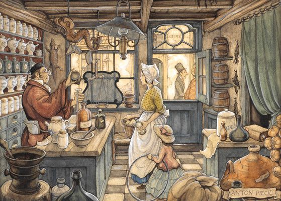 Apotheek by Anton Pieck