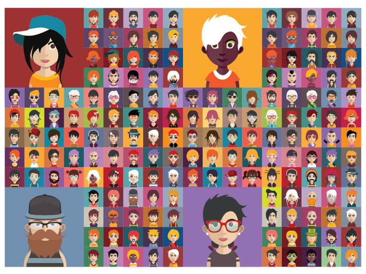 Set of avatars by Kubanek Csaba