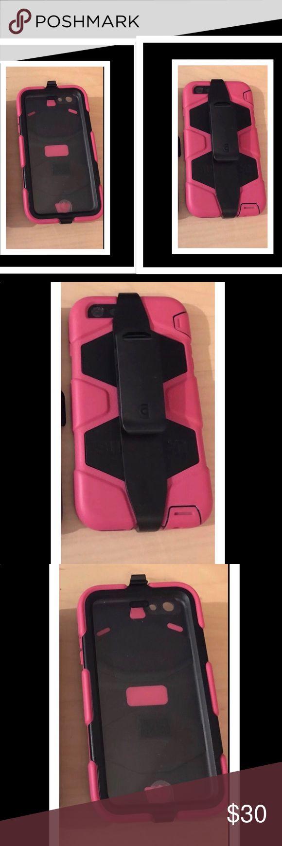 Pink & Black Survivor Case with Clip IPhone 6plus iPhone 6 Plus Phone Case  1 Pink & Black Survivor Case with Clip   Pre Owned  Looks brand new Survivor Accessories Phone Cases