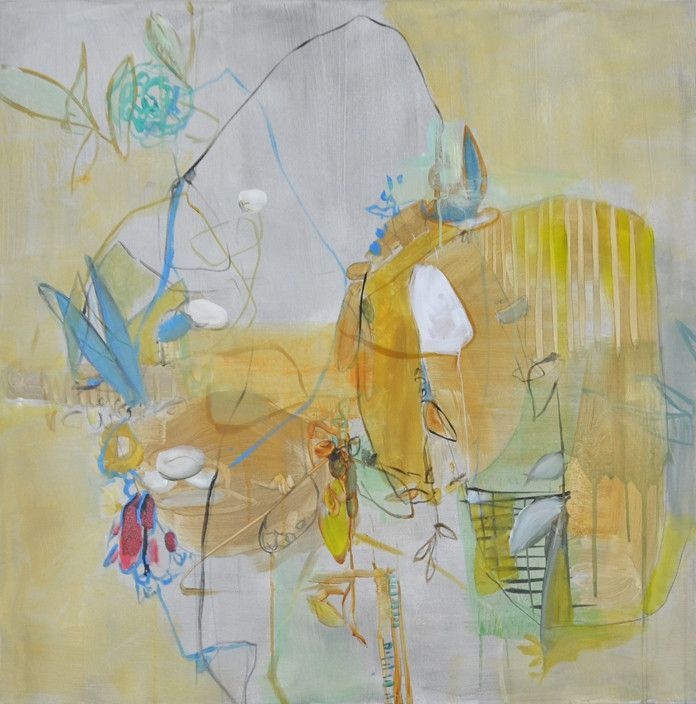 Mineral and vegetal  90x90cm acrylic on canvas