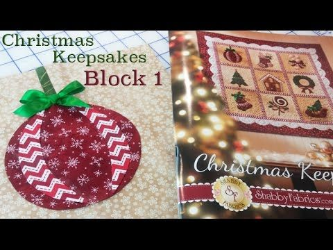 In this video, Jennifer shows you how to make Christmas Keepsake Block 1. This BOM is available as Laser cut (pre-fused/pre-cut) appliqué' or traditional app...