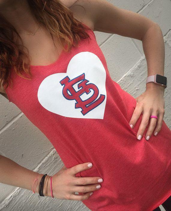 Cardinal Baseball Tank : Womens St. Louis by Serendipitybeyondtee