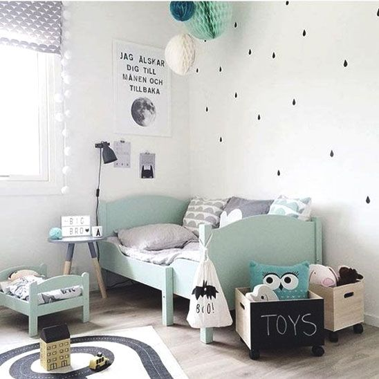 so sunny kids: Nordic Kidsroom - neutral colors and color pop mint