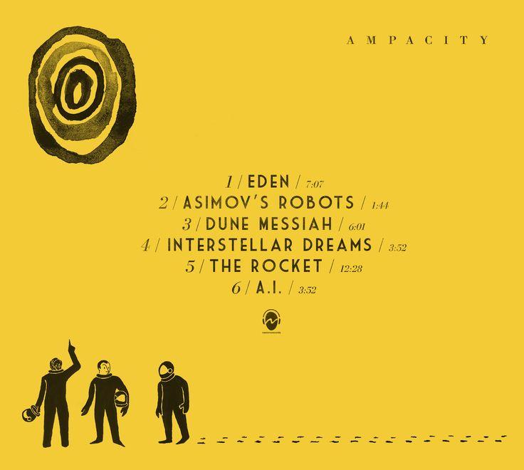 Back cover for Ampacity's album 'Eden' - digibook