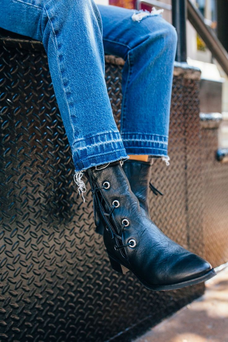 Voyage Western Boot   Soft leather western-inspired boots featuring a sleek pointed toe and side lace-up design.    * Chunky block heel