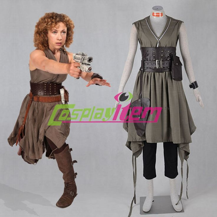 Doctor Who River Alex Kingston Cosplay Costume Adult Halloween Cosplay Costume…