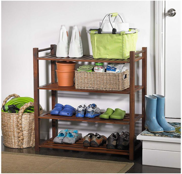 Northbeam 4 Tier Indoor/Outdoor Shoe Rack