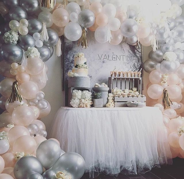 Ombré Soft Metallic Balloon Arch