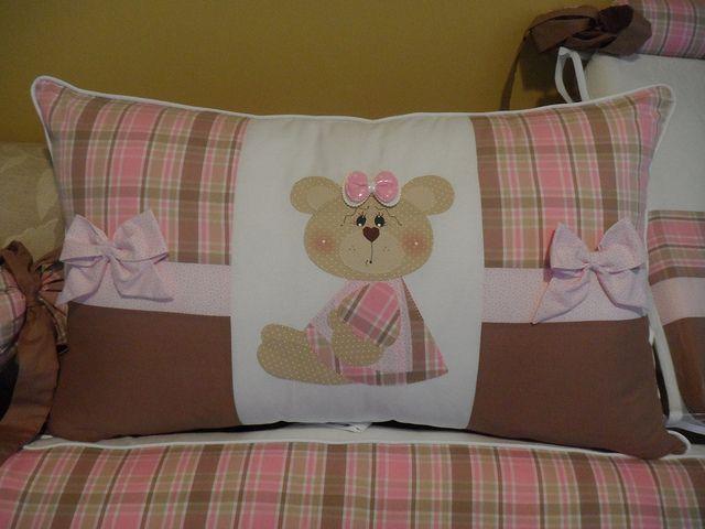 cabeçeira do protetor de berço ursinha com laços   Flickr – Compartilhamento de fotos!