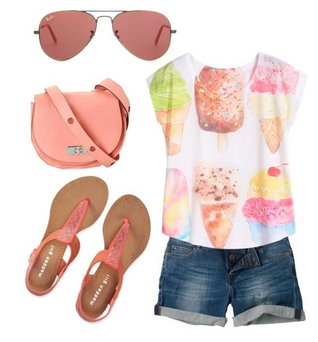 summer/spring by tayken3 on Polyvore featuring polyvore fashion style Fat Face Aéropostale Ray-Ban Marc by Marc Jacobs clothing