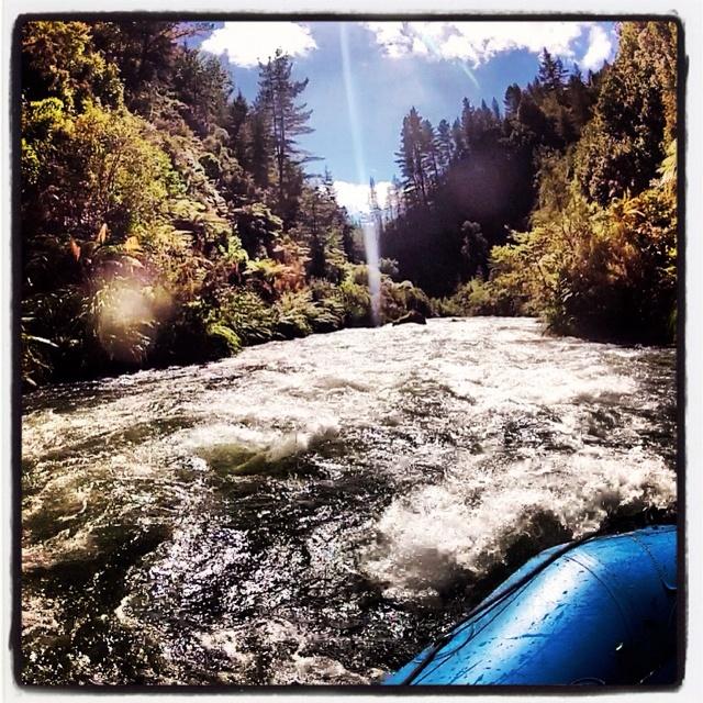Rafting down the Rangiriki river, New Zealand