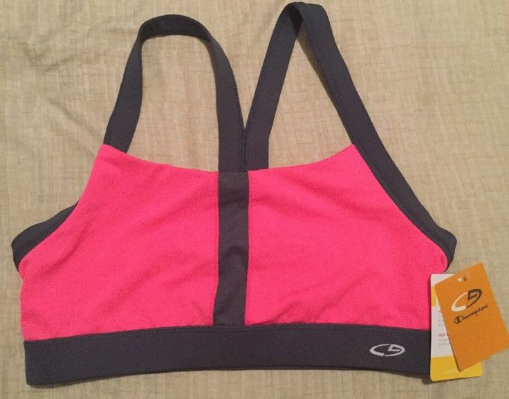 CHAMPION C9 Duo Dry Sports Bra Light Support Pink & Gray Size Small NWT #Champion