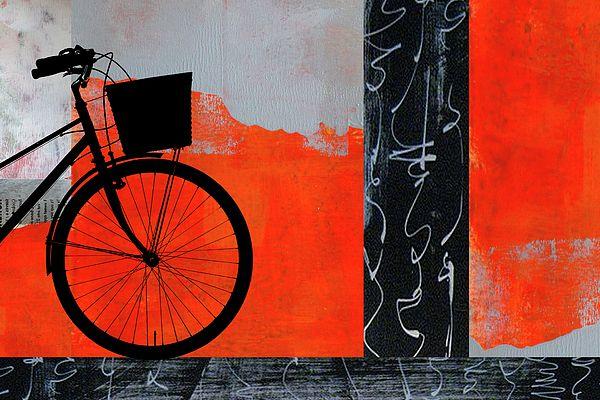 Red Bicycle Fine Art Prints by Nancy Merkle