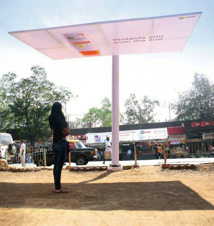 Inclined Outdoor to promote the Garnier sunscreen. Created by Publicis / India