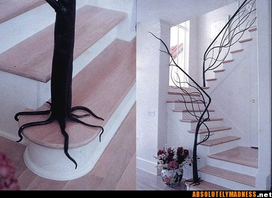 Stair rails: Decor, Ideas, Stairs Railings, Dreams Houses, Staircases, Trees Railing, Cool Stairs, Trees Branches, Design