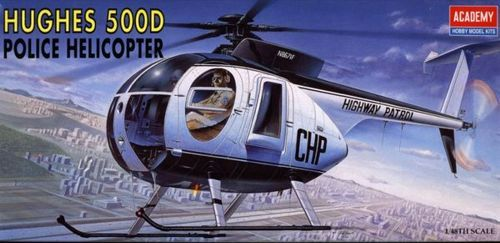 Hughes 500D, Police Helicopter. Academy, 1/48, injection, No.12249. Price: 5,62 GBP.