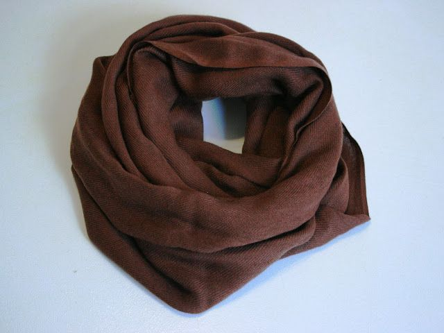 Adventures in Dressmaking: French seam infinity scarf tutorial--recycle a scarf!