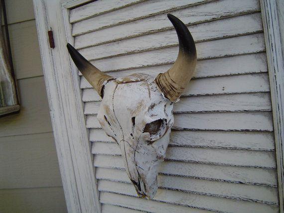 Skull Man Cave Decor : Cow skull head wall decor clearance sale man cave