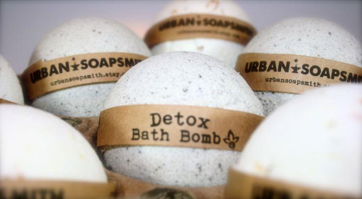 Detox Bath Bomb, Aromatherapy Bath Bomb, Dead Sea Mud, All Natural Bath Bomb Fizzy by UrbanSoapsmith on Etsy https://www.etsy.com/listing/242567595/detox-bath-bomb-aromatherapy-bath-bomb