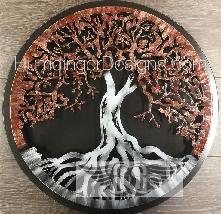 Tree of Life (Merlot Sparkle) with Simple Dark Background - Humdinger Designs
