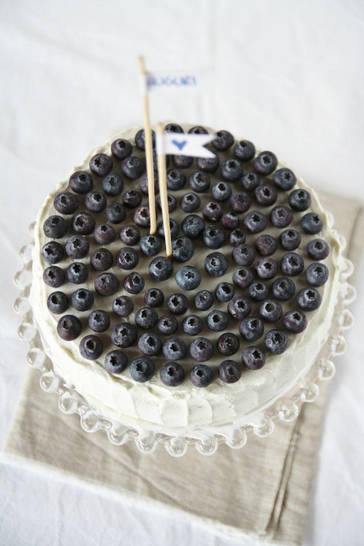 Gâteau aux myrtilles et yaourt grec