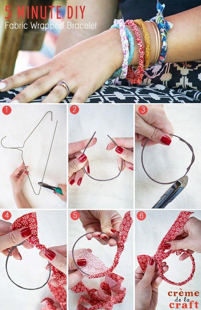 Come fare un braccialetto con delle grucce di ferro. #RicicloCreativo #DIY #braccialetto